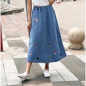 Mujer Columpio Faldas - Estampado, Un Color