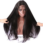Human Hair Lace Front Wig Straight / Yaki...