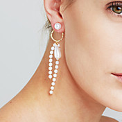 Mujer Perla artificial Personalizado Lujo Sensual Joyería Destacada Moda Euramerican joyería película Cobre Forma de Círculo Forma de