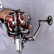 Carrete de la pesca Carretes de currián Carretes para pesca spinning 4.7:1 Relación de transmisión+11 Rodamientos de bolas Intercambiable