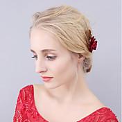 Cestería Perla Artificial Legierung Flores Palillo del pelo Herramienta para el Cabello Celada