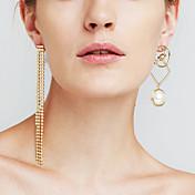Mujer Pendientes colgantes Perla artificial Diamante sintético Personalizado Lujo Sensual Moda Euramerican joyería película Joyería