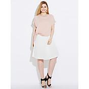 Mujer Moderno Vaina Vestido - Estilo moderno, Un Color Bloques Sobre la rodilla