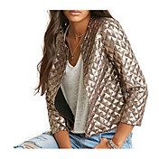 Women's Cotton Jacket - Solid Colored V Neck