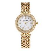 女性用 スケルトン腕時計 ファッションウォッチ ダミー ダイアモンド 腕時計 中国 クォーツ 合金 バンド カジュアルスーツ シルバー ゴールド