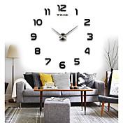 コンテンポラリー 家族 壁時計,円形 MOON 屋内/屋外 クロック