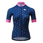 Mysenlan Maillot de Ciclismo Mujer Manga Corta Bicicleta Camiseta/Maillot Secado rápido Poliéster Moda Verano Ciclismo de Montaña