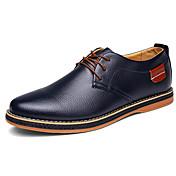 Hombre Zapatos Cuero de Napa Primavera Otoño Confort Suelas con luz Oxfords Para Fiesta y Noche Negro Marrón Azul