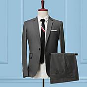 Men's Slim Suits-Solid Colored,Patchwork