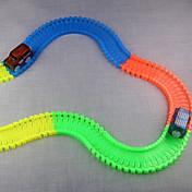 自動車おもちゃ 電車おもちゃ用線路 クラシックカー おもちゃ ノベルティ柄 蓄光 蛍光灯 夜光計 DIY ABS 子供用 小品