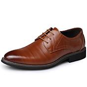 Hombre Zapatos Cuero Invierno Otoño Zapatos formales Oxfords Con Cordón para Casual Fiesta y Noche Negro Marrón Azul