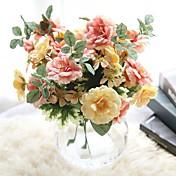 1個 1 ブランチ ポリエステル バラ テーブルトップフラワー 人工花