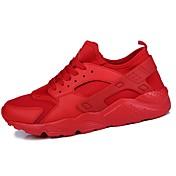 Hombre PU Primavera / Otoño Confort Zapatillas de Atletismo Blanco / Negro / Rojo