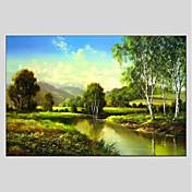 手描きの 風景 水平パノラマ キャンバス ハング塗装油絵 ホームデコレーション 1枚