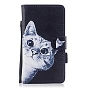 ケース 用途 Samsung Galaxy J7(2017) J3(2017) ウォレット カードホルダー スタンド付き フリップ 磁石バックル パターン フルボディー 猫 ハード PUレザー のために J5 (2016) J5 (2017) J3 J3 (2016) J3
