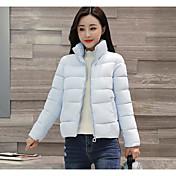 コート ダウン レディース,お出かけ カジュアル/普段着 ソリッド ポリエステル ポリプロピレン-シンプル ストリートファッション 長袖