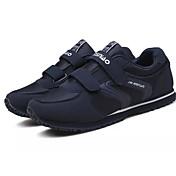 Hombre Zapatos PU Primavera Otoño Confort Zapatillas de Atletismo Paseo Cinta Adhesiva Para Deportivo Negro Azul Oscuro Gris