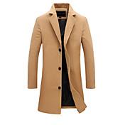 Men's Vintage Basic Long Cotton Jacket - ...