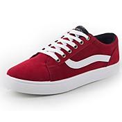 Hombre Zapatos Aterciopelado Primavera Otoño Confort Zapatillas de deporte Para Casual Negro Rojo Azul