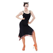 Baile Latino Tops Mujer Actuación Brocado aplicado Sin mangas Tops