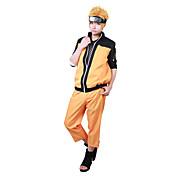 に触発さ NARUTO -ナルト- Naruto Uzumaki アニメ系 コスプレ衣装 コスプレスーツ パッチワーク 長袖 コート パンツ 用途 男性用 女性用