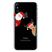 ケース 用途 iPhone X iPhone 8 クリア パターン バックカバー カートゥン クリスマス ソフト TPU のために iPhone X iPhone 8 Plus iPhone 8 iPhone 7プラス iPhone 7 iPhone 6s Plus