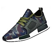 Hombre Zapatos Tul Primavera Otoño Suelas con luz Zapatillas de deporte Con Cordón Para Casual Negro Verde