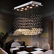8-luz Cristal Lámparas Araña Luz Downlight - Cristal, Bombilla incluida, Los diseñadores, 110-120V / 220-240V, Blanco Cálido / Blanco Frío