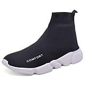 Hombre Zapatos Tejido Primavera Otoño Confort Zapatillas de deporte Para Casual Blanco Negro Gris oscuro Gris claro