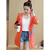 レディース カジュアル/普段着 秋 ジャケット,ストリートファッション フード付き カラーブロック レギュラー その他 長袖