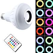 1 Pieza 7W E27 Bombillas LED Inteligentes PAR30 26 LED SMD 5050 Bluetooth Regulable Control Remoto Decorativa RGB + Blanco 500lm 2200-6500