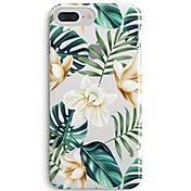 Funda Para Apple iPhone X iPhone 8 Ultrafina Transparente Diseños Funda Trasera Flor Árbol Suave TPU para iPhone 8 Plus iPhone 8 iPhone