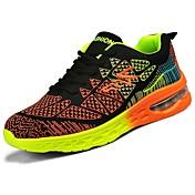 Hombre Zapatos PU Invierno Confort Zapatillas de Atletismo Running Con Cordón Para Deportivo Casual Naranja Rojo Azul Negro/blanco