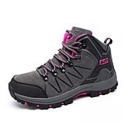 Mujer Zapatos PU Otoño Invierno Confort Zapatillas de Atletismo Paseo Dedo redondo Con Cordón Para Deportivo Gris Morado Rosa