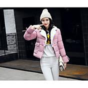 コート レディース,お出かけ カジュアル/普段着 ソリッド コットン コットン-シンプル 長袖
