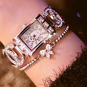 女性用 ダミー ダイアモンド 腕時計 ユニークなクリエイティブウォッチ ファッションウォッチ 日本産 クォーツ カジュアルウォッチ ステンレス バンド チャーム シルバー ゴールド