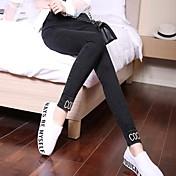 Mujer Estampado Un Color Legging
