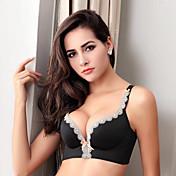 sujetadores de encaje sexy de mujer con cobertura completa, rayón de algodón inalámbrico push-up, 5 colores