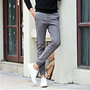 Hombre Casual Tiro Medio Elástico Chinos Pantalones,Un Color Invierno Otoño