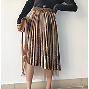 Mujer Simple Bonito Casual/Diario Midi Faldas Otoño Un Color