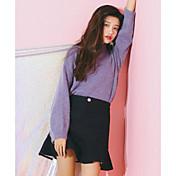 Mujer Trabajo Colegio Casual/Diario Mini Faldas Otoño Un Color