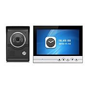 pantalla grande sistema de intercomunicación video del teléfono de la puerta del monitor de la grabación del color de 9 pulgadas con la