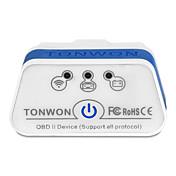 tonwon 2 ble4.0 elm327 obd2 escáner de diagnóstico bluetooth4.0 cheque de soporte del motor de coche todos los protocolos obdii utilizan