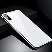 Funda Para Apple iPhone X iPhone 8 Antigolpes Funda Trasera Color sólido Dura Vidrio Templado para iPhone X iPhone 8 Plus iPhone 8 iPhone