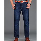 Hombre Simple Chinos Vaqueros Pantalones - Un Color