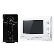 sistema de entrada de intercomunicación video de la puerta videoportero de 7 pulgadas con el desbloqueo de la tarjeta del id