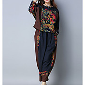 Women's Going out Set - Solid Colored Pant