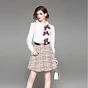 女性用 シャツ - プリント スカート