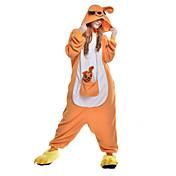 きぐるみパジャマ カンガルー ワンピースパジャマ コスチューム フリース 合成繊維 オレンジ コスプレ ために 成人 動物パジャマ 漫画 ハロウィン イベント/ホリデー