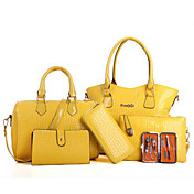 Women's Bags PU Bag Set 6 Pieces Purse Se...